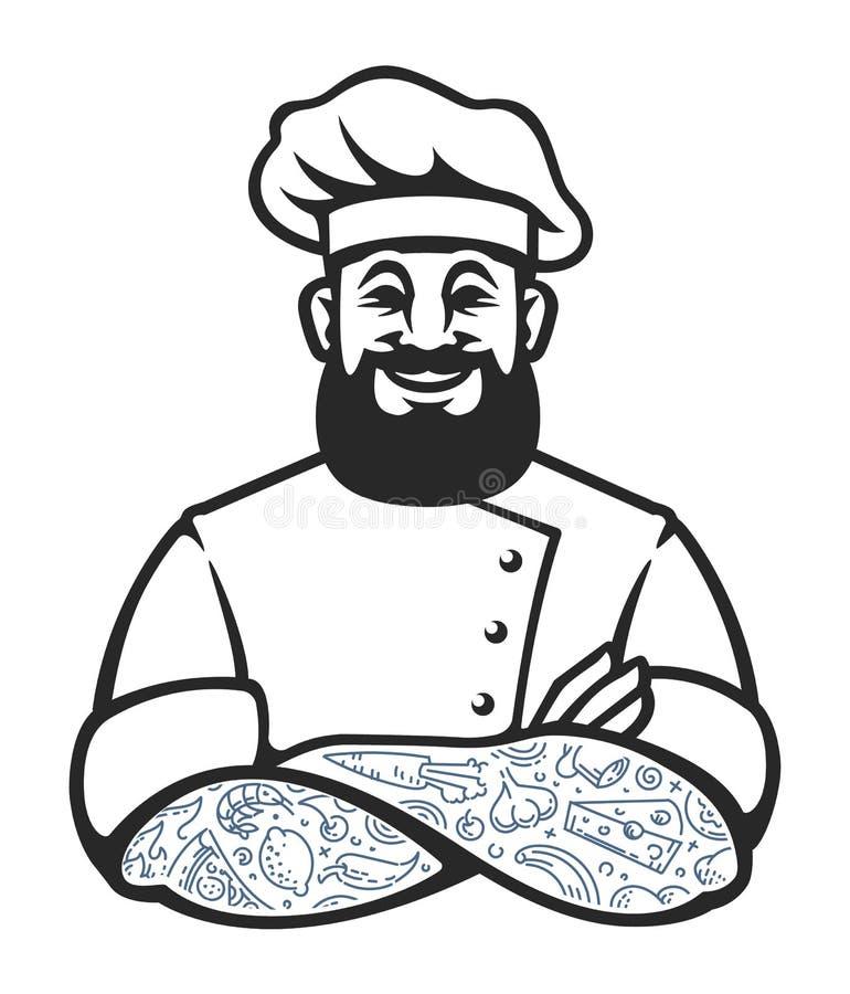 行家厨师传染媒介象 库存例证