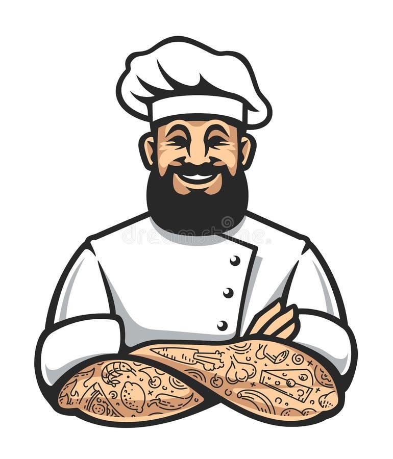 行家厨师传染媒介象 向量例证