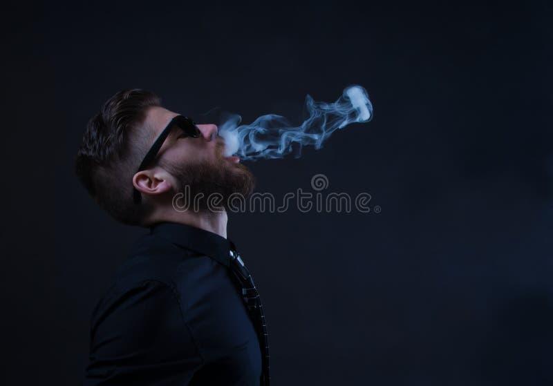 行家吸烟者 免版税图库摄影