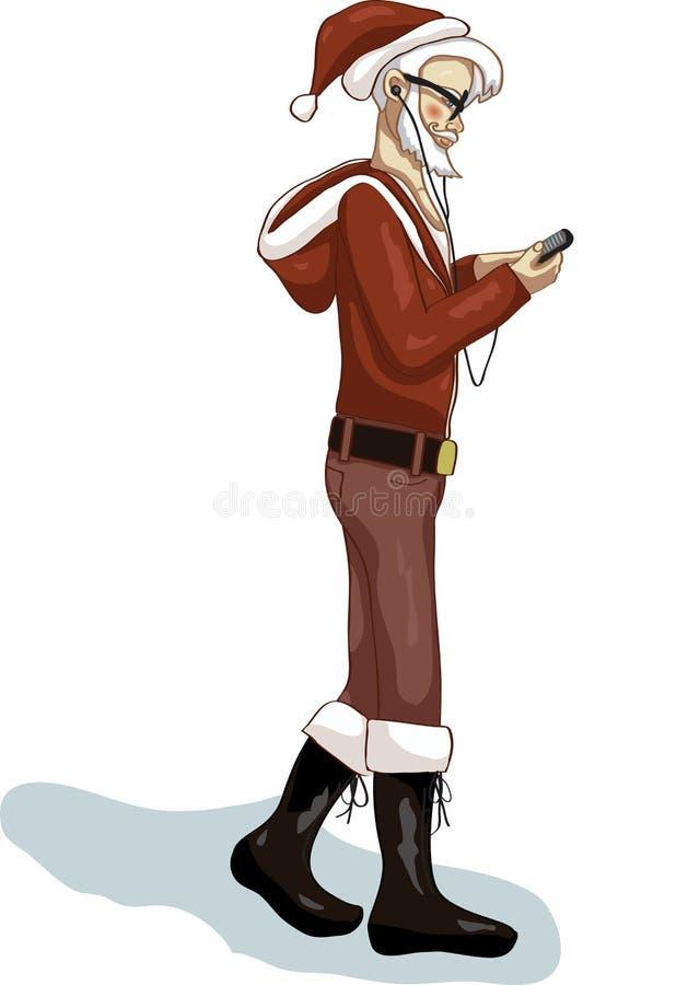 行家圣诞老人 库存照片