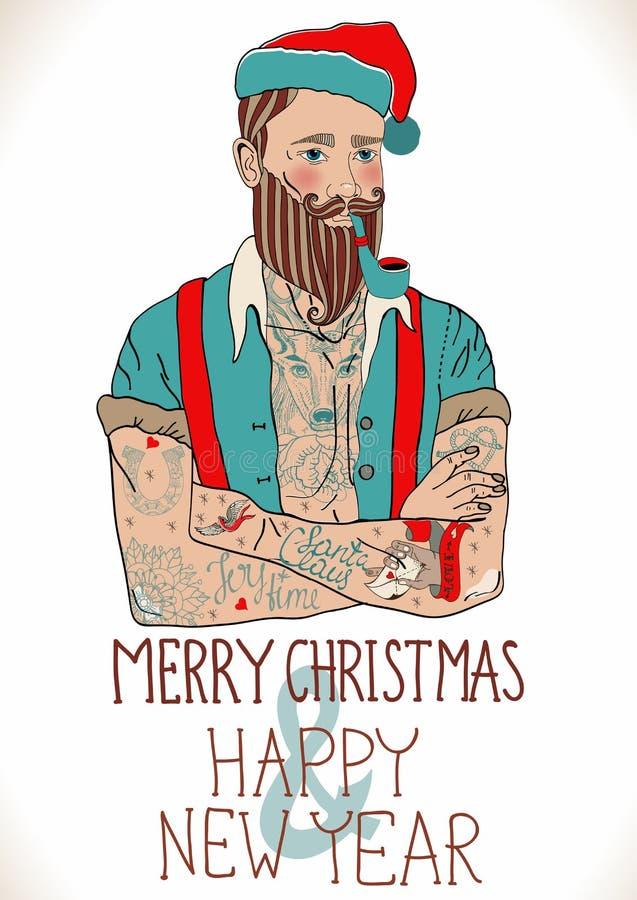 行家圣诞老人 皇族释放例证