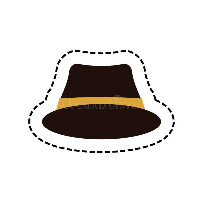 行家时尚帽子 向量例证