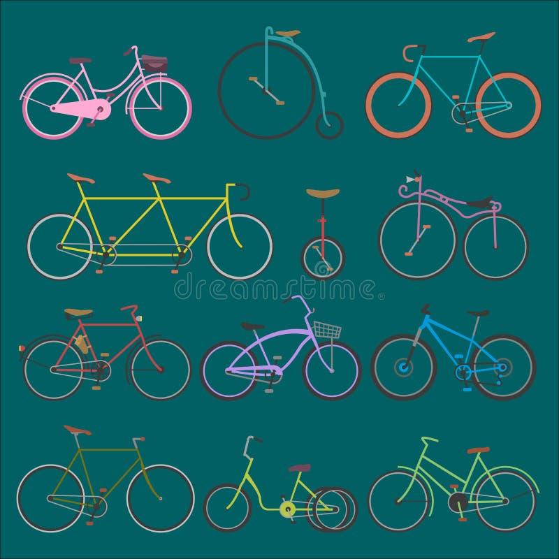 行家自行车平的传染媒介例证 向量例证