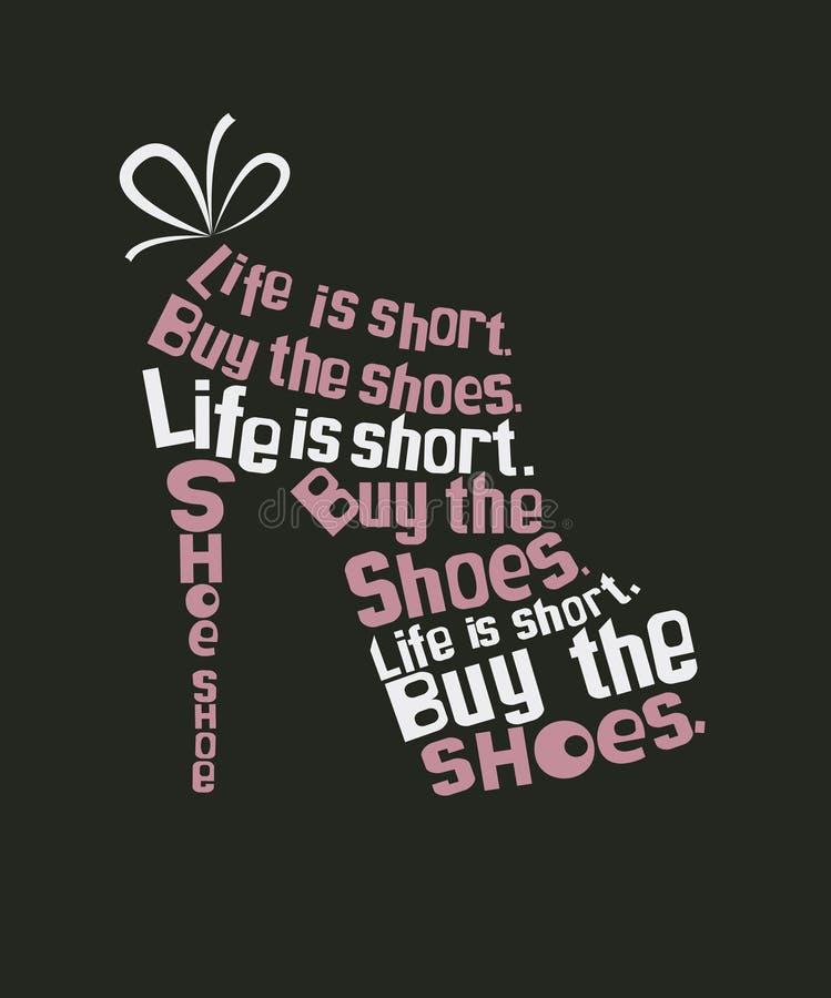 从行情的时尚鞋子 皇族释放例证