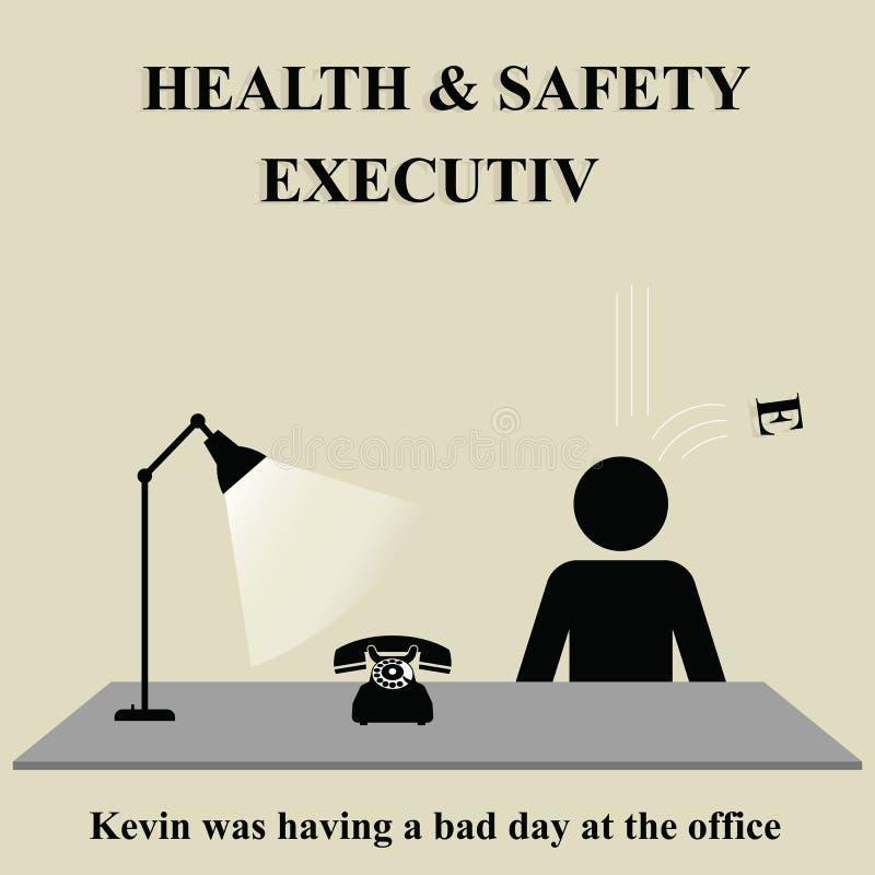 行政健康安全性 库存例证