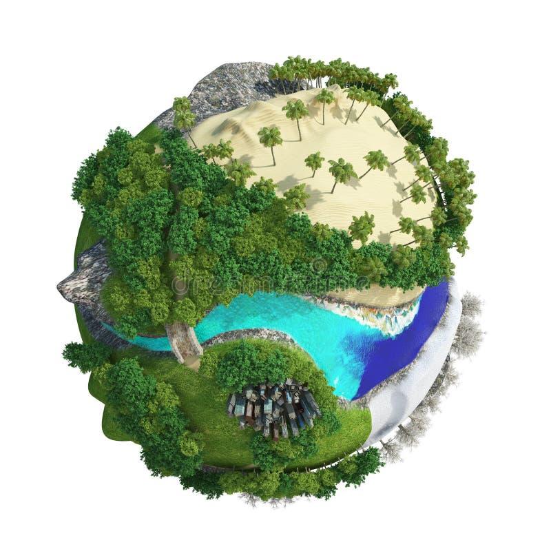 行星世界3D 图库摄影