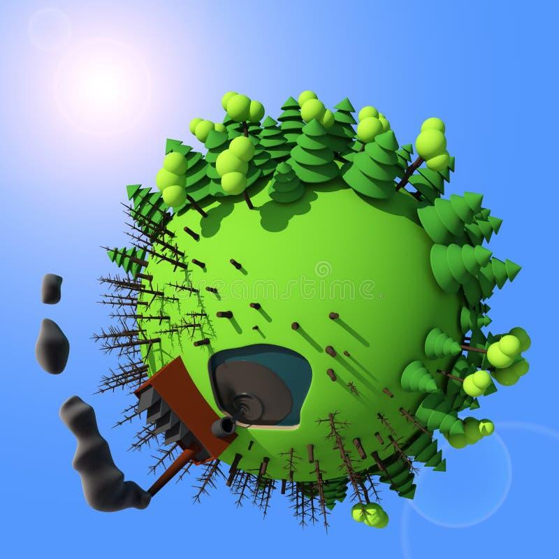 行星动画片3D 免版税图库摄影