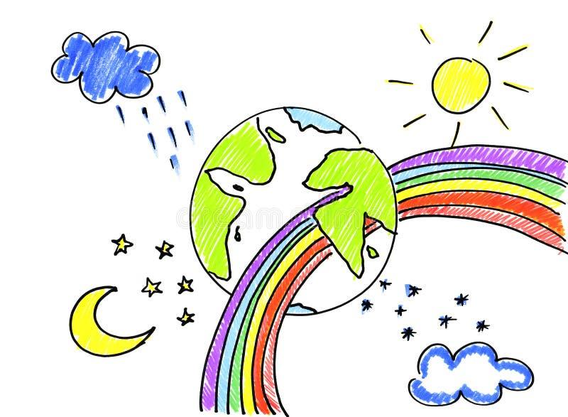 行星和季节 库存例证