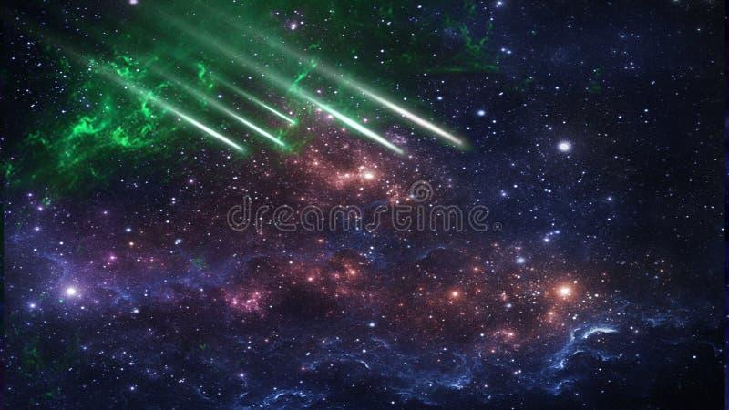 行星和星系,科幻墙纸 外层空间秀丽  免版税图库摄影