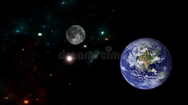 行星和星系 科幻墙纸 免版税库存图片