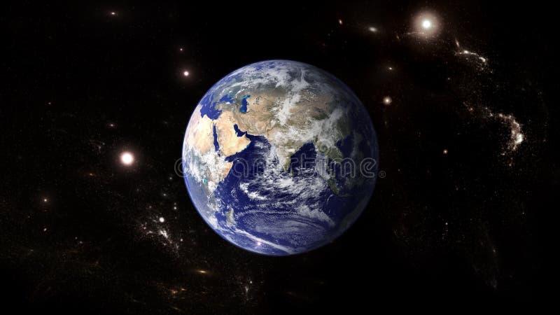 行星和星系 科幻墙纸 图库摄影
