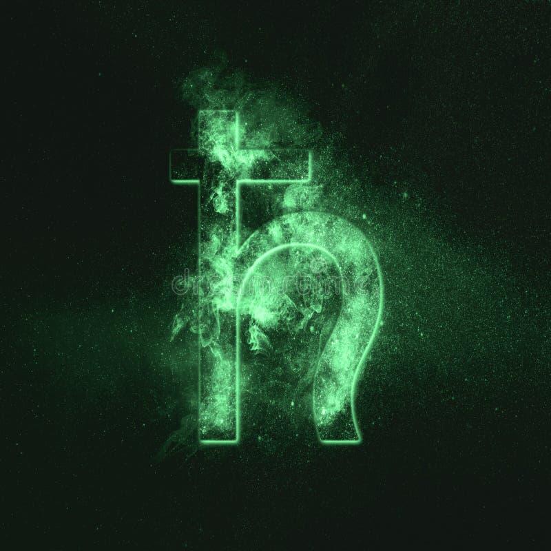 行星土星标志 土星标志 绿色符号 免版税库存照片