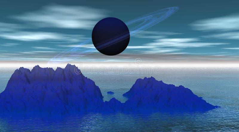 行星土星 库存例证