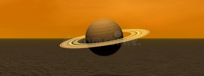 行星土星 皇族释放例证