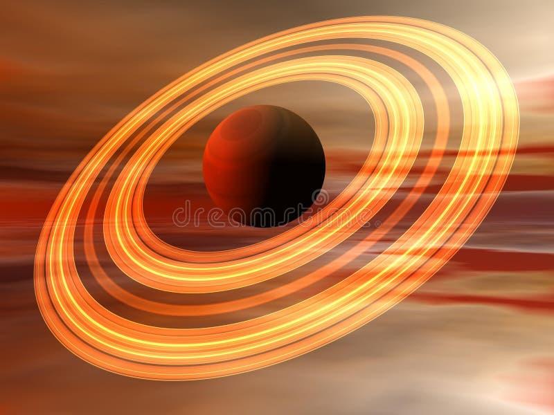 行星土星 向量例证