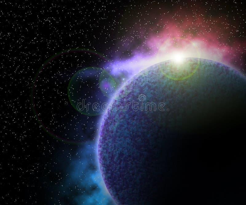 行星在空间背景中 向量例证