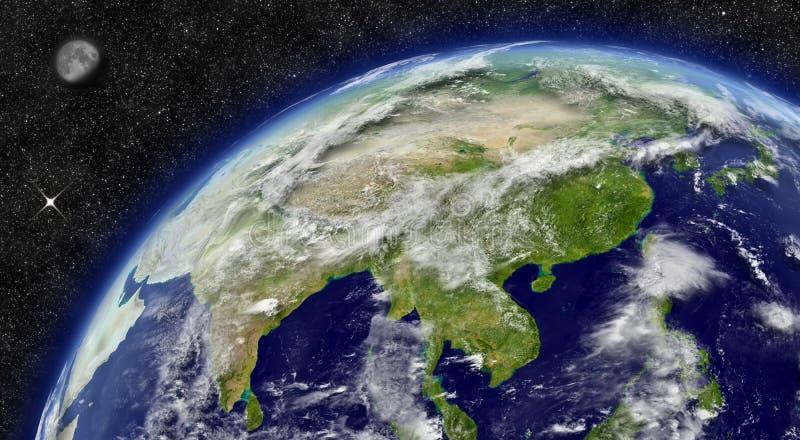 行星地球上的东亚 皇族释放例证