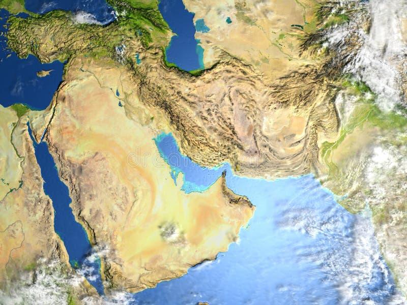 行星地球上的阿拉伯半岛 皇族释放例证