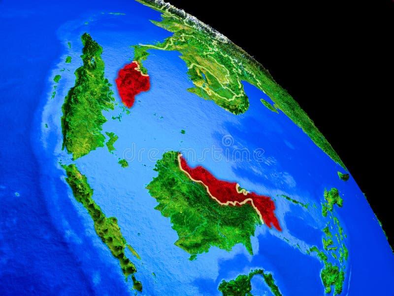 行星地球上的马来西亚 库存例证