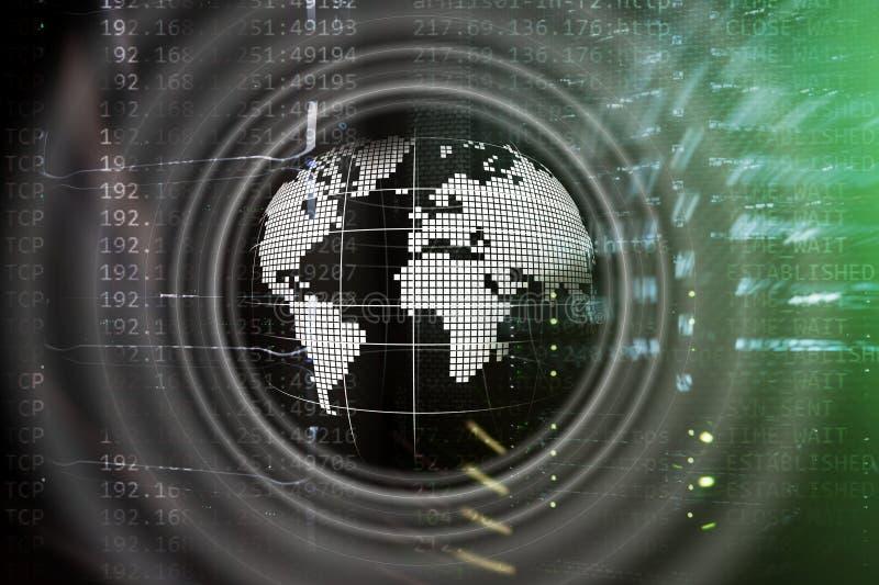 行星地球全息图地球全球性通信全世界企业概念 向量例证