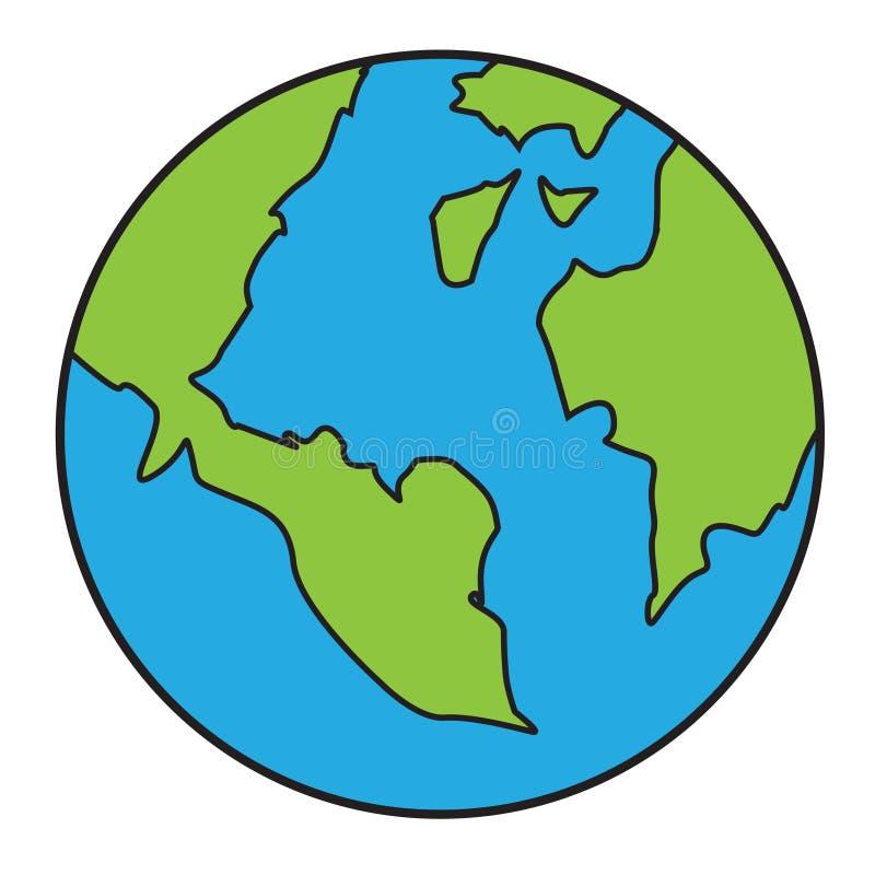 Download 行星地球动画片 向量例证. 插画 包括有 空间, 科学, 地理, 天空, 乱画, 行星, 大陆, 海岛, 图画 - 72369920