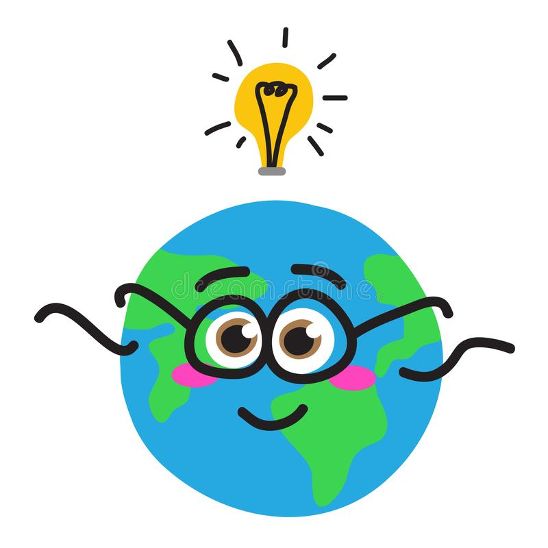 行星地球和电灯泡 全球性问题 r 库存例证
