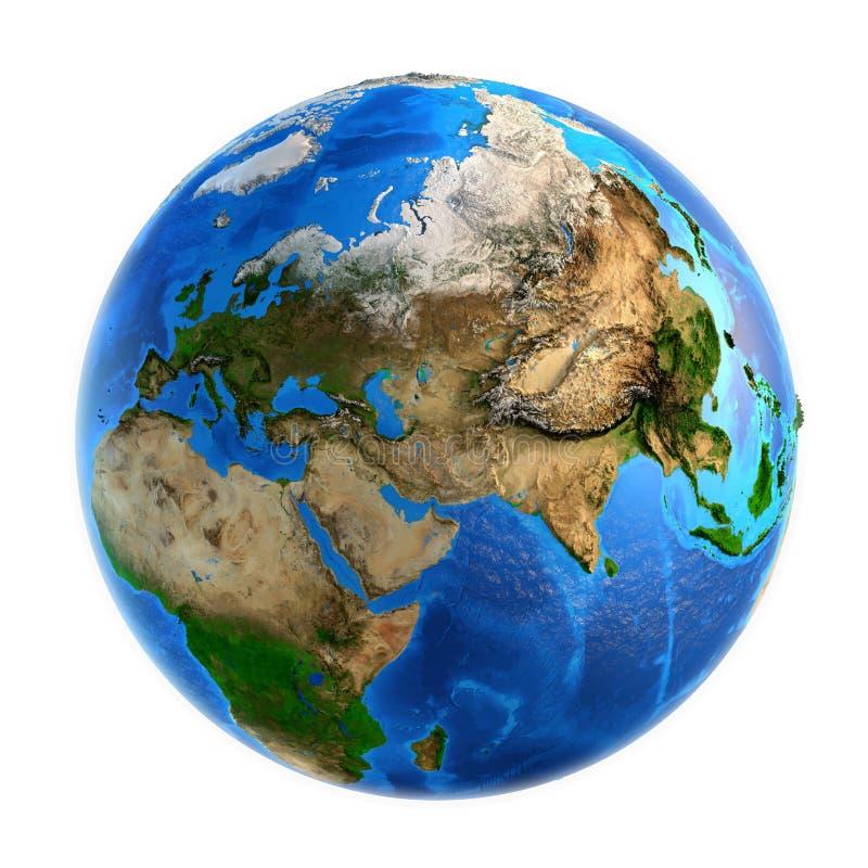 行星地球地形 库存图片