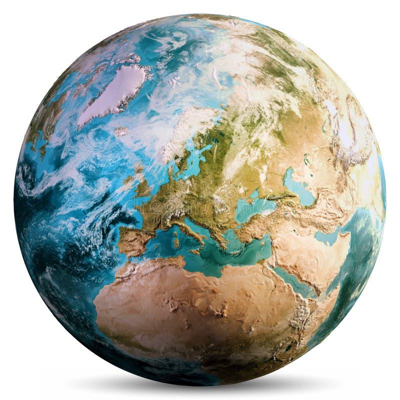 行星地球地球 库存例证