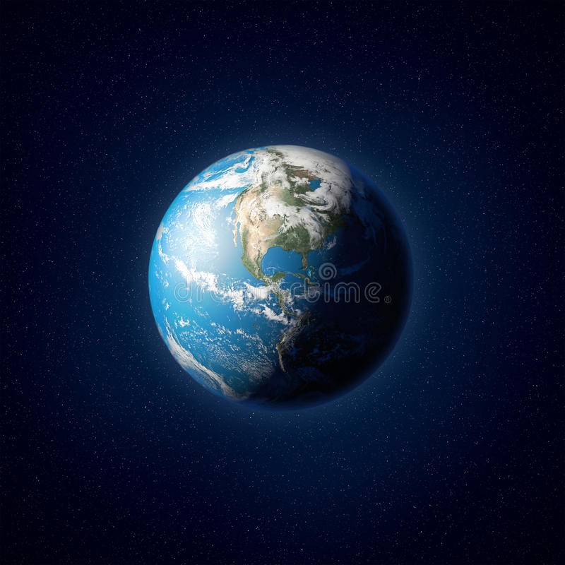 行星地球的高分辨率例证 库存图片