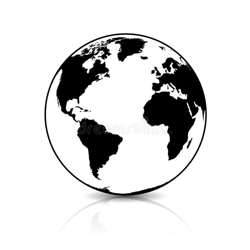 行星地球,地球象标志 皇族释放例证