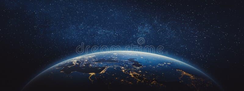 行星地球-中东和欧洲 皇族释放例证