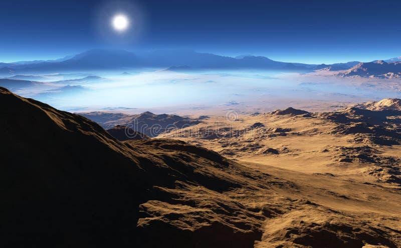 行星地球500数百万几年前 向量例证