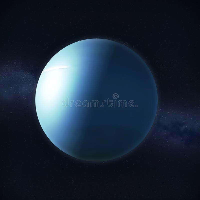 行星天王星视图  向量例证