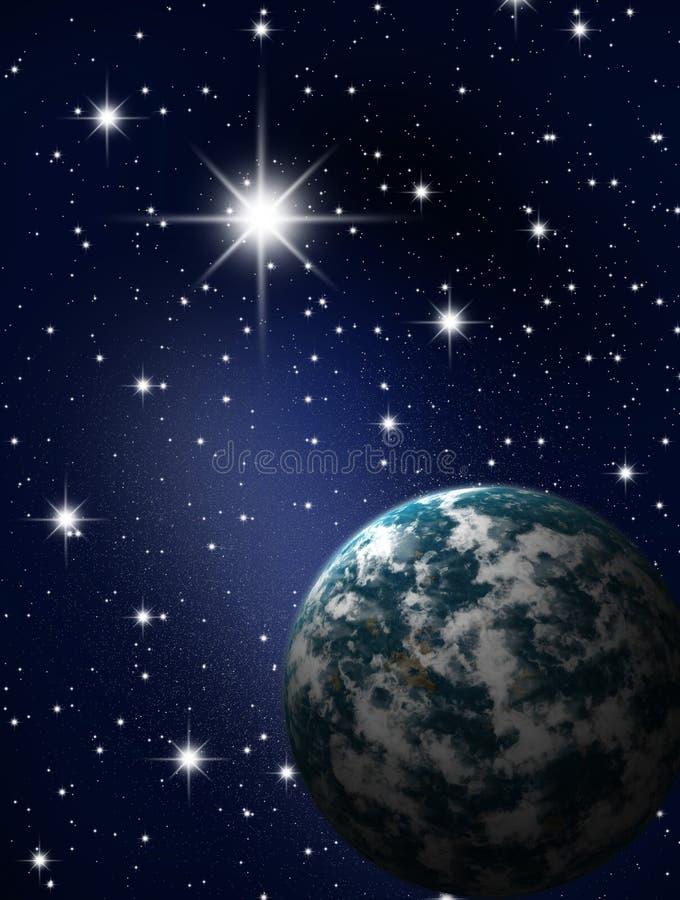 行星天空星形 皇族释放例证