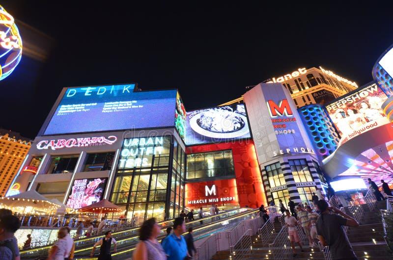 行星好莱坞手段&赌博娱乐场,地标,市区,夜,大都会 免版税库存照片