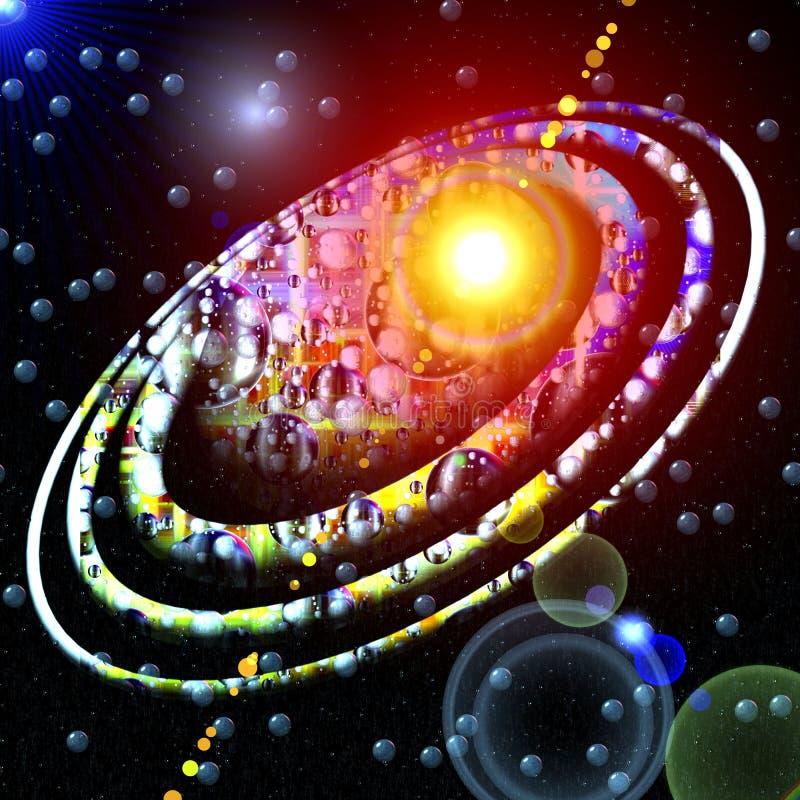 行星对星 皇族释放例证