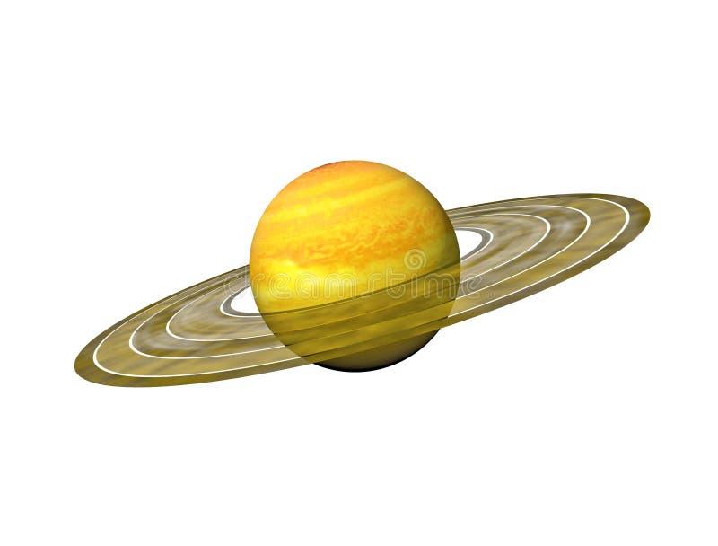 行星敲响土星 免版税库存图片