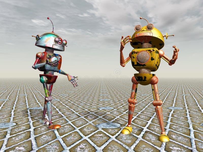行星机器人 皇族释放例证