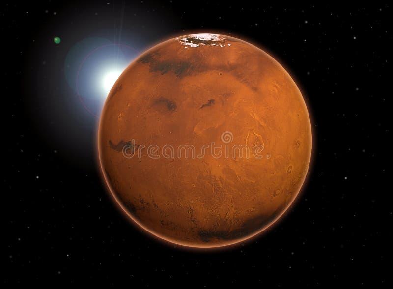 行星火星 向量例证
