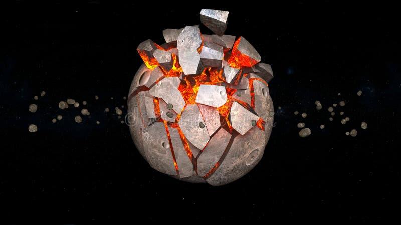 行星爆炸 库存例证