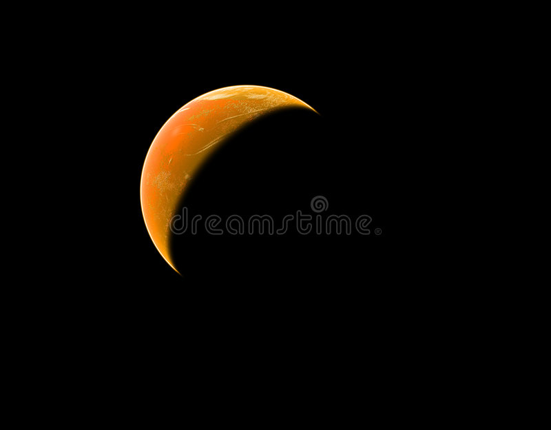 行星红色空间 免版税图库摄影