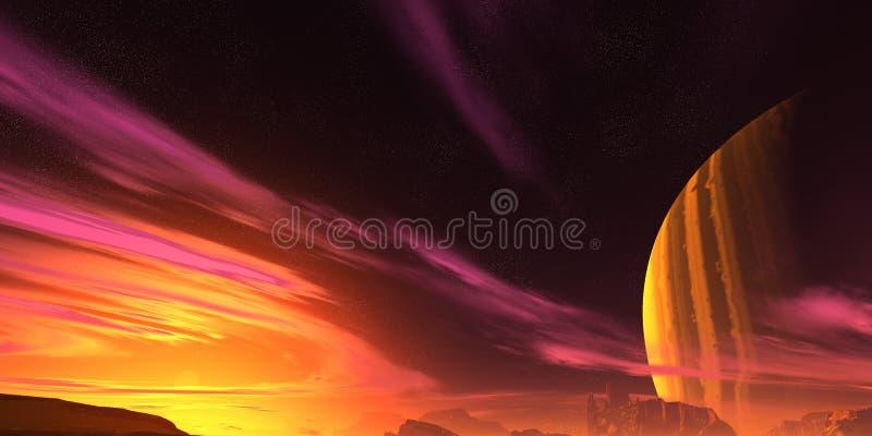 行星红色 向量例证