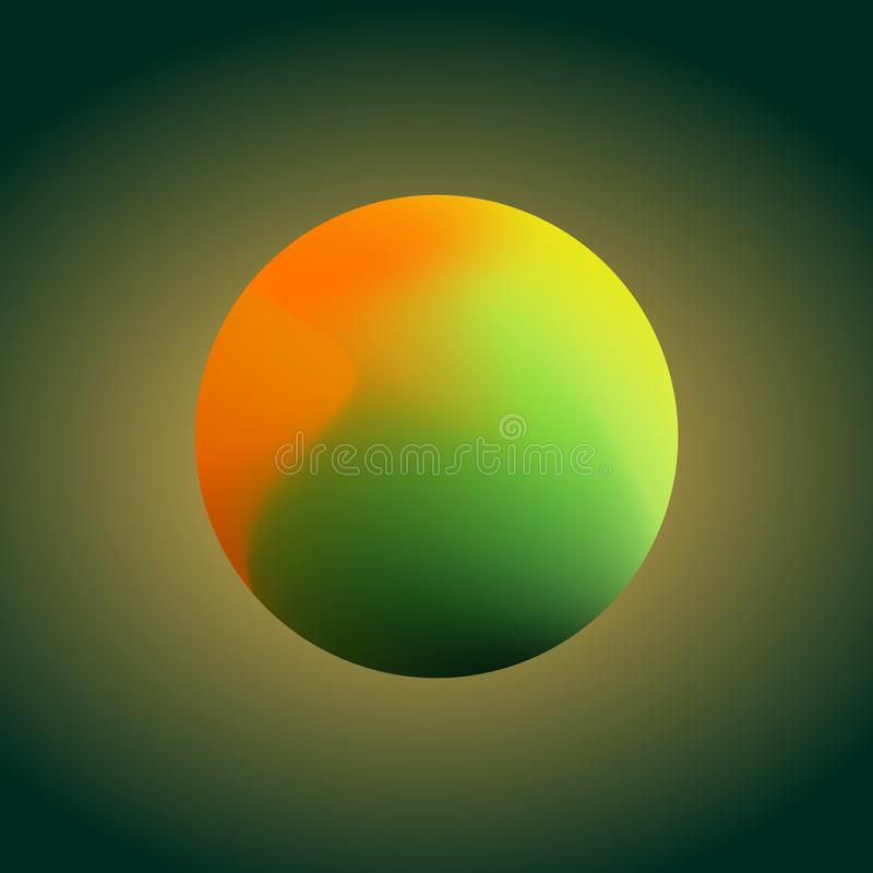 行星颜色滤网传染媒介例证球形 库存例证
