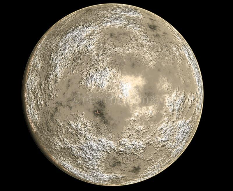 行星水星 库存例证