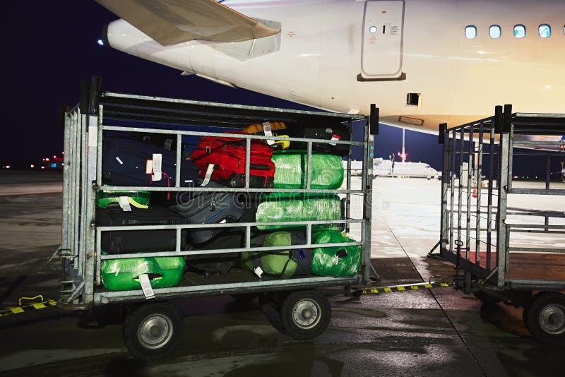 行李在机场 库存图片