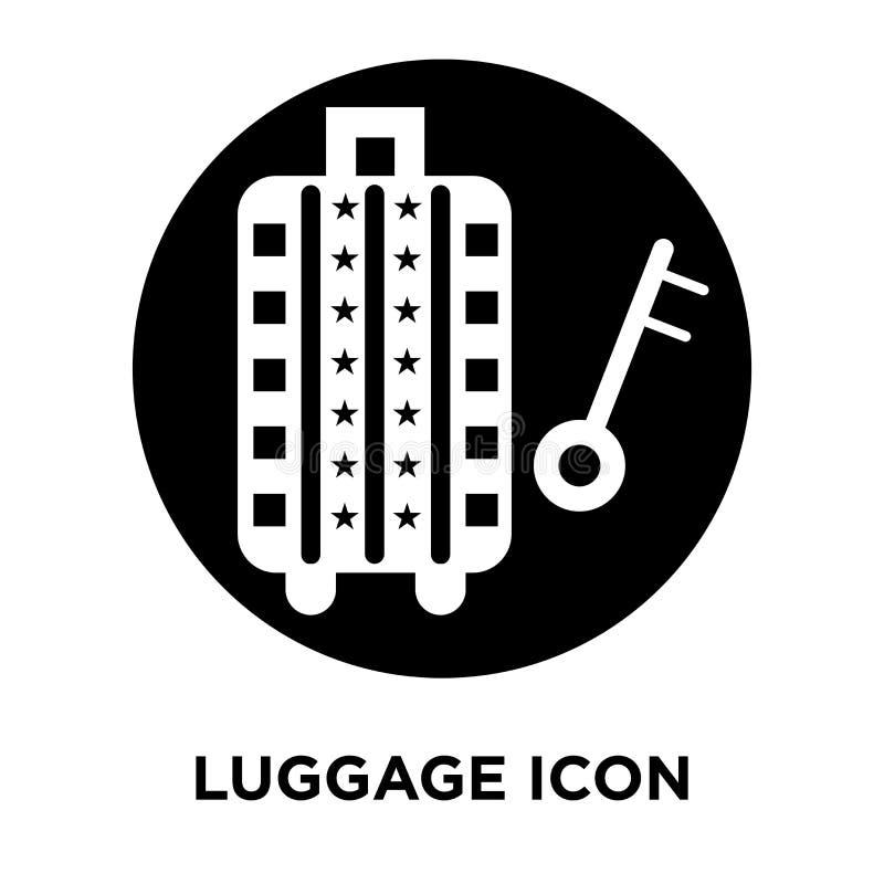 行李在白色背景隔绝的象传染媒介,商标概念o 向量例证