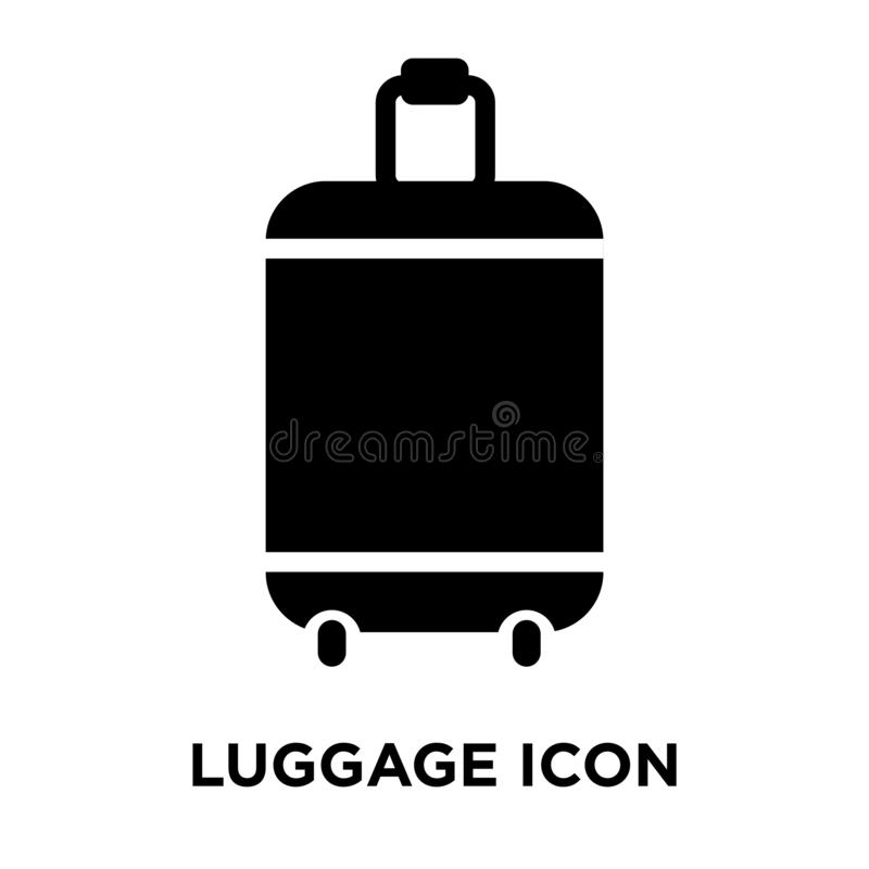 行李在白色背景隔绝的象传染媒介,商标概念o 皇族释放例证