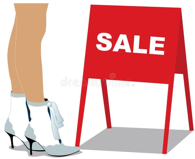 行程销售额妇女 向量例证
