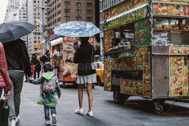 街头时尚在纽约,曼哈顿 免版税库存照片