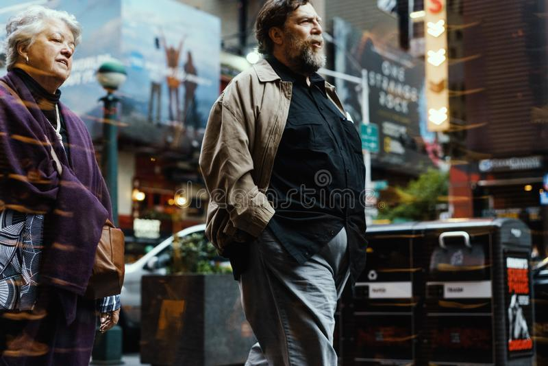 街头时尚在纽约,曼哈顿 免版税图库摄影